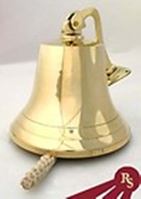 10 Inch Solid Brass Ships Bell
