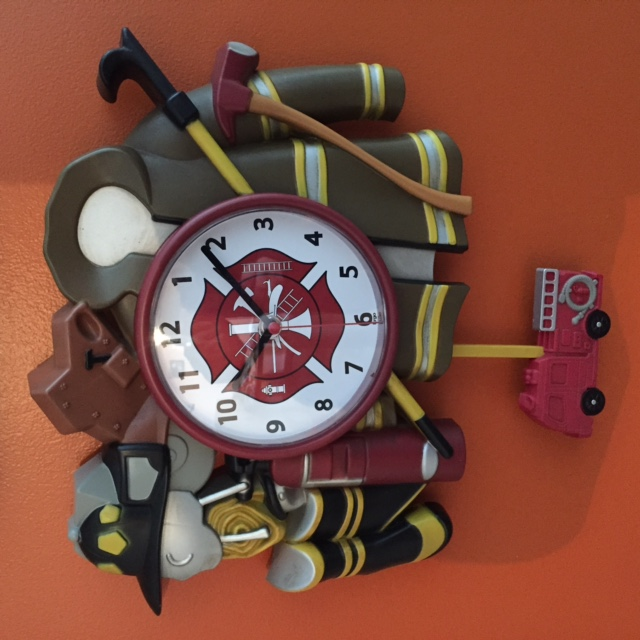 Firefighter Gear Clock