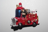 Fire Truck With Dog Fridge Magnet
