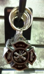 Colored Pewter Keyring